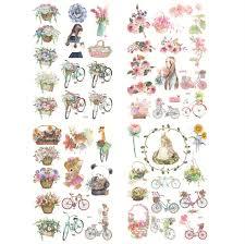 wedding scrapbook stickers vintage flower floral plant stickers happy planner wedding
