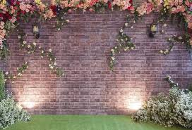 wedding backdrop grass vintage brick wall background wedding lawn photography backdrop