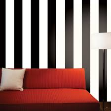 tempaper stripe black and white self adhesive removable wallpaper