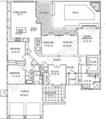 seville courtyard house plan ranch floor plan