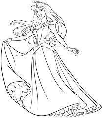 disney princess aurora coloring pages funycoloring