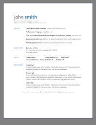 Modern Resumes Modern Resume Template Download Downloadable Free Resume