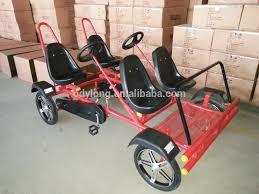 four seat 4 person four seat pedal car four wheel surrey bike buy four