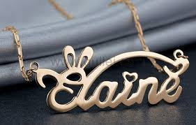 Name Chain Silver Custom Made My Name Necklace For Men And Women Personalized