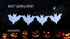 bat garland fun diy halloween decoration kirigami youtube