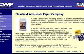 clearfield wholesale paper company cwp clearfield pa