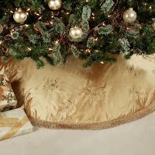 elegant snowflake embroidered christmas tree skirt