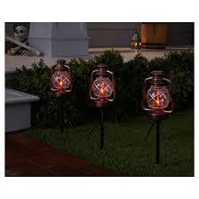 5ct halloween flicker flame campfire lantern pathway lights hyde