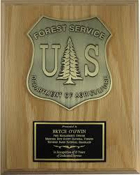 retirement plaque us forest service plaque