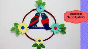 wall hanging picture for home decoration diy woolen parrot wall hanging for home decoration easy woolen