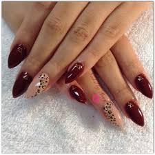 deep red burgundy cheetah nails nailed by mary pinterest