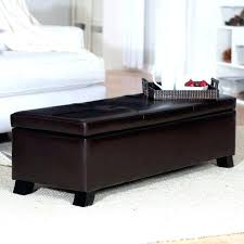 Leather Ottoman Cocktail Table Leather Storage Ottoman Coffee Table Capsuling Me