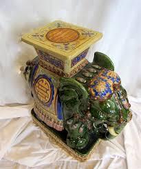 ornate porcelain vietnamese elephant table