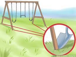 How To Build A Backyard Swing 3 Ways To Anchor A Swing Set Wikihow