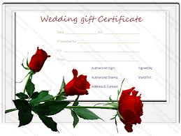 wedding gift card wedding gift certificate template