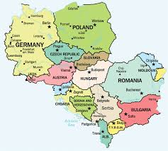 eurpoe map map of central europe central europe political map central