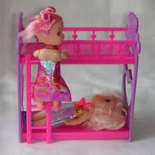 Doll House Bunk Beds Plastic Bunk Bed For Doll 3 94inch Dolls Dollhouse