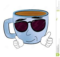 cool cup of coffee cartoon stock illustration image 43151386