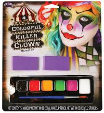 Halloween Eye Makeup Kits by Halloween Killer Clown Makeup Kit Facepaint Set Fancy Dress Ebay