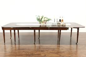 english 1860 antique mahogany console opens to 10 u0027 dining table