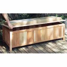 Patio Cushion Storage Bin by Cedar Storage Bench Outdoor Ready It Offers Deep Space To Store