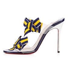 christian louboutin delicanodo patent pvc bow sandals christian
