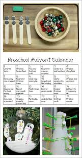 printable advent calendar for preschoolers