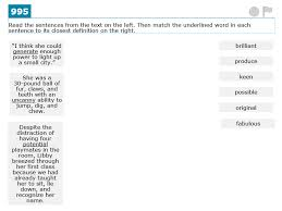 common core assessment analysis sixth grade context clues