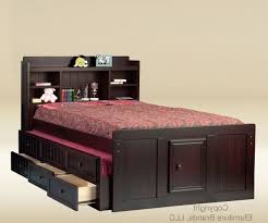 Black Full Size Headboard by Full Size Headboard With Shelves And Storage Simple Queen Bed Made