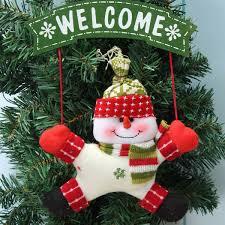 snowman christmas tree christmas tree door hanging ornament santa clau snowman christmas