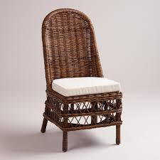 brown height back chair rattan dining chairs for modern room decor