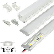 Led Ceiling Strip Lights by Led Strip Light Fixtures Aluminum Profile Strip Housing Flush
