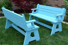plastic convertible bench picnic table table and bench convertible picnic table and bench farm table bench