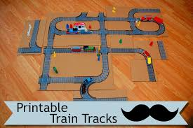 this free pdf printable train track project is the perfect