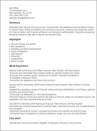 Comprehensive Resume Sample by Professional Fraud Analyst Templates To Showcase Your Talent