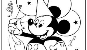happy birthday coloring mickey mouse