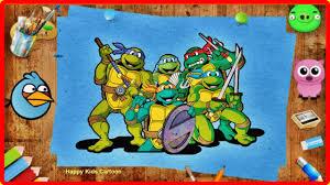 teenage mutant ninja turtles coloring book learn colors