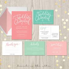 wedding invitations minted coral mint wedding invitation kits suites sets salmon blush pink