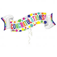 congratulation banner anagram 40 x 19 inch congratulations banner from category