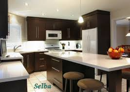 dark kitchen cabinets and white appliances not bad for the