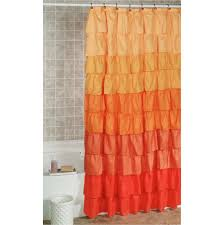 Frilly Shower Curtain Orange Ruffle Shower Curtain Curtain Menzilperde Net