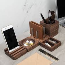 Modern Desk Tidy Pleasurable Design Ideas Wood Desk Designs Computer Clock Writing