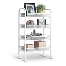 kitchen trolley island 4 tier metal rolling kitchen trolley cart island wire rack shelf