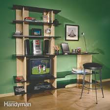 Install Heavy Duty Shelf Brackets In Concrete The Homy Design - how to hang shelves family handyman