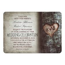 Wedding Tree Tree Carved Heart Rustic And Vintage Wedding Card Zazzle Com