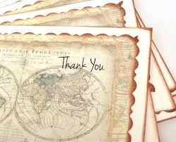 Map Note Thank You Cards Wedding Stationery Map Note Cards Pack Of 20