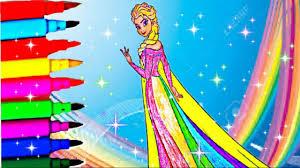 disney frozen barbie princess coloring book pages elsa peppa pig