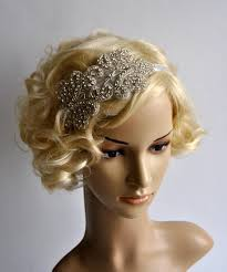 1920s headband rhinestone flapper gatsby headband wedding headband