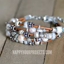 diy bracelet with beads images Leather pewter diy bead bracelet happy hour projects jpg