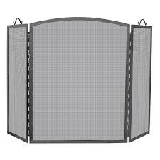 uniflame single panel olde world iron fireplace screen hayneedle